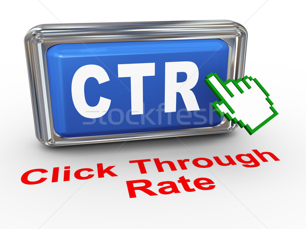 3d hand cursor - ctr button Stock photo © nasirkhan