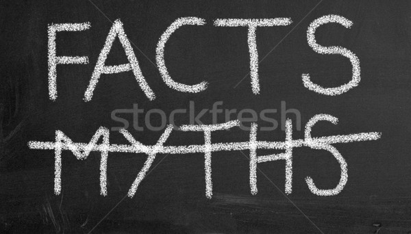 Chalkboard - facts and myths Stock photo © nasirkhan
