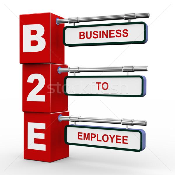 3d modern signboard of b2e Stock photo © nasirkhan
