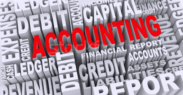 Stock photo: 3d concept of accounting word tags