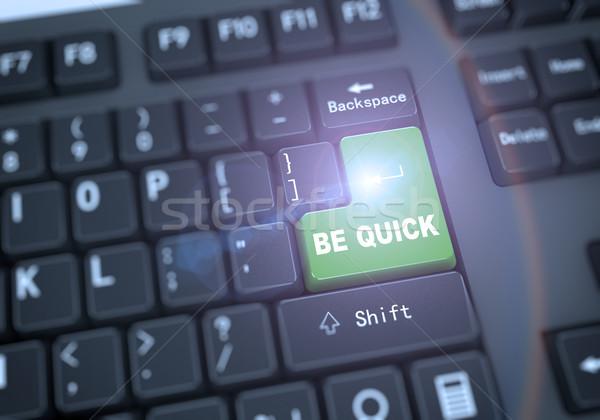 3d keyboard - be quick Stock photo © nasirkhan
