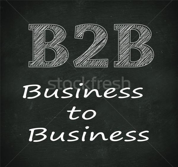 Chalkboard illustration of b2b - business to business Stock photo © nasirkhan