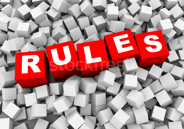 3D absztrakt kockák dobozok szabályok renderelt kép Stock fotó © nasirkhan