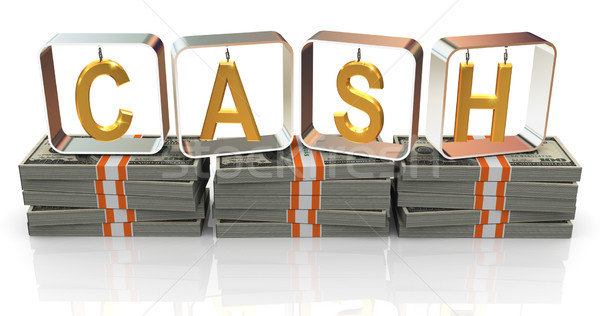 3d text cash Stock photo © nasirkhan