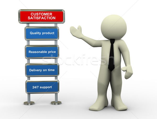 3d businessman and customer satisfaction Stock photo © nasirkhan