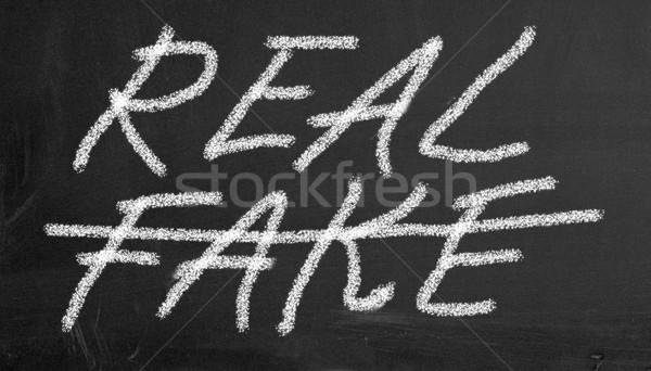 chalkboard real and fake illustration Stock photo © nasirkhan