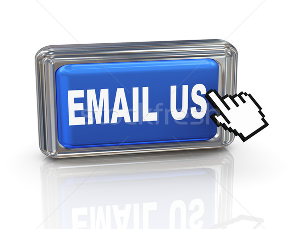 3d hand cursor button - email us Stock photo © nasirkhan