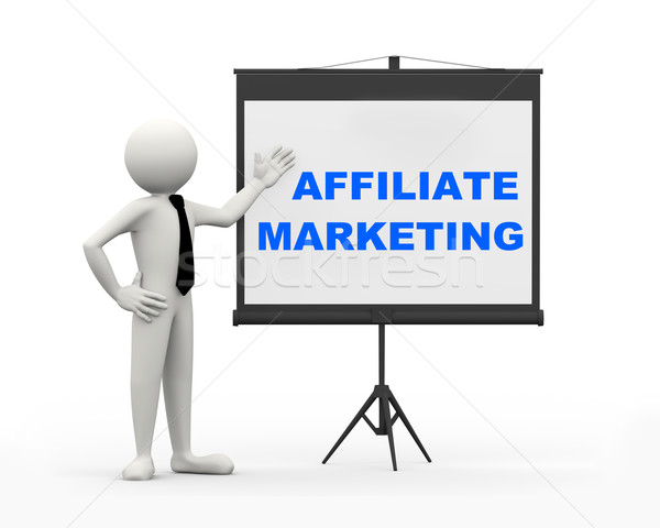 3d businessman - affiliate marketing Stock photo © nasirkhan