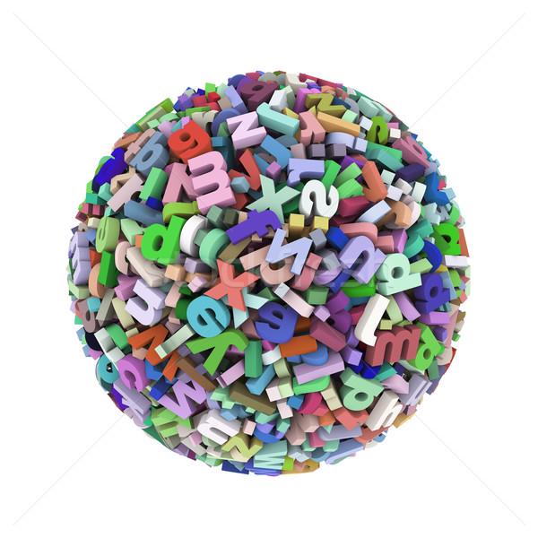 3d colorful alphabet letters sphere ball Stock photo © nasirkhan