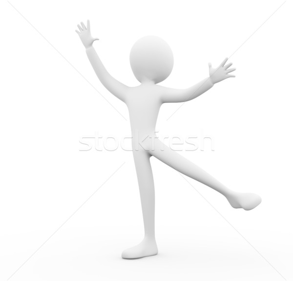 3d man ballet dance Stock photo © nasirkhan