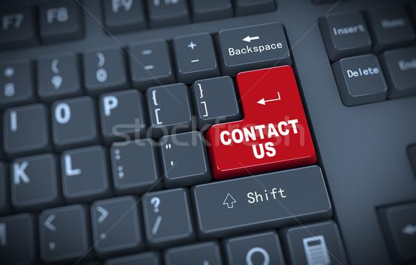 3d keyboard - contact us Stock photo © nasirkhan