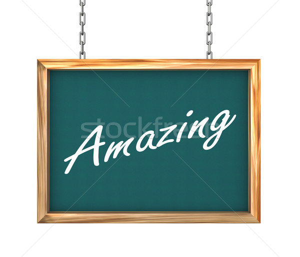 3d hanging banner - amazing Stock photo © nasirkhan