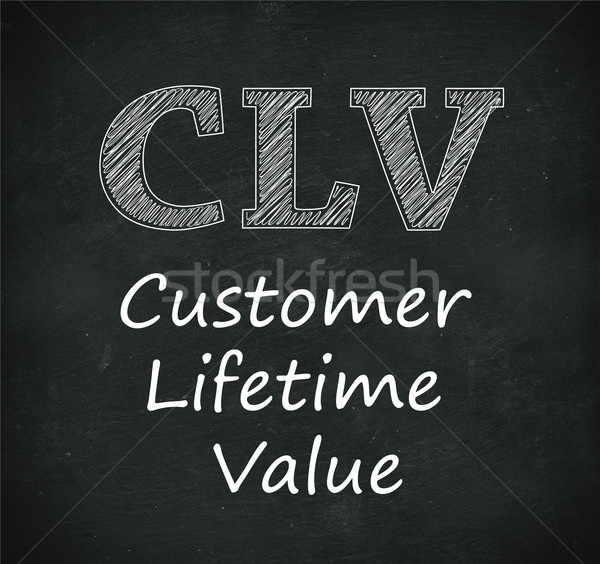 Chalkboard illustration of clv  - customer lifetime value Stock photo © nasirkhan