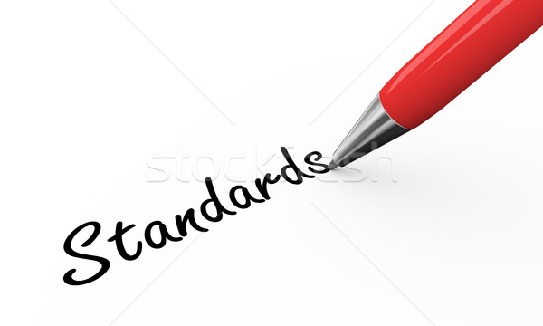 3d pen writing standards Stock photo © nasirkhan