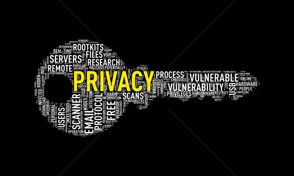 Key shape wordcloud tag privacy Stock photo © nasirkhan