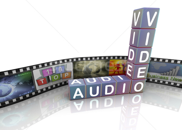 Audio video and film reel Stock photo © nasirkhan
