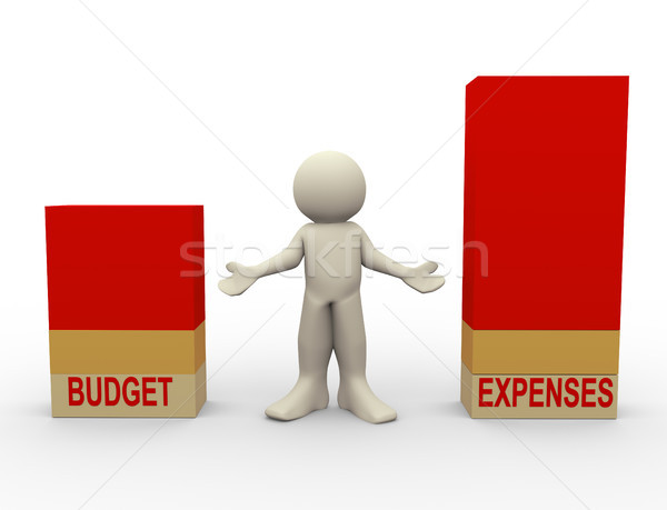 3d man budget expenses comparison Stock photo © nasirkhan