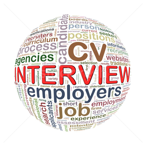 Wordcloud word tags ball of interview Stock photo © nasirkhan
