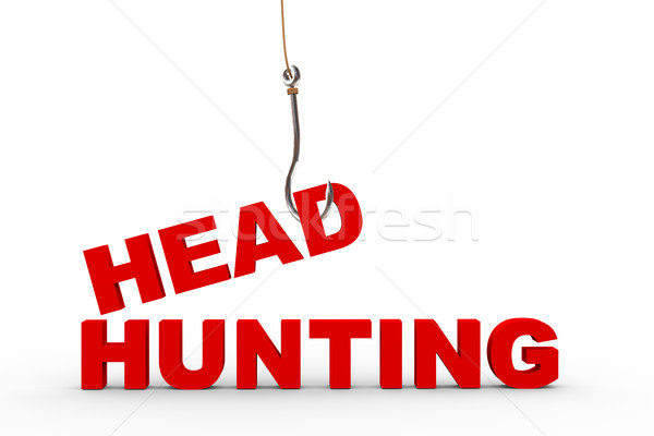3d fishing hook and headhunting concept Stock photo © nasirkhan