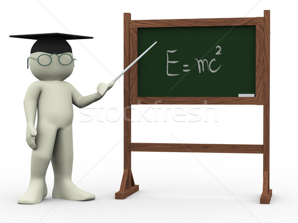 3d teacher and einsteins theory Stock photo © nasirkhan