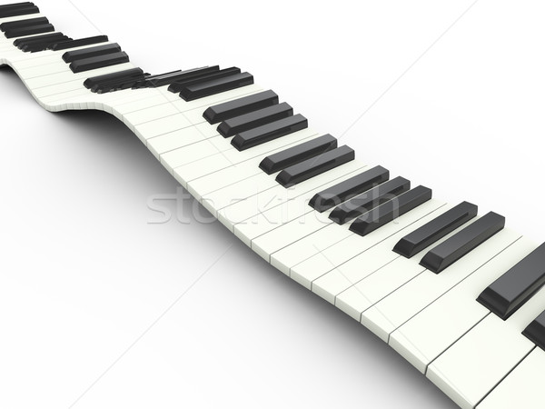 3d wavy keyboard Stock photo © nasirkhan
