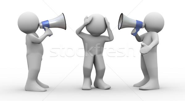 3d people megaphone announcement Stock photo © nasirkhan