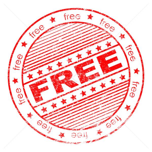 Grunge free rubber stamp Stock photo © nasirkhan