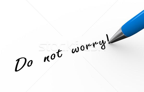 3D toll ír nem aggodalom illusztráció Stock fotó © nasirkhan