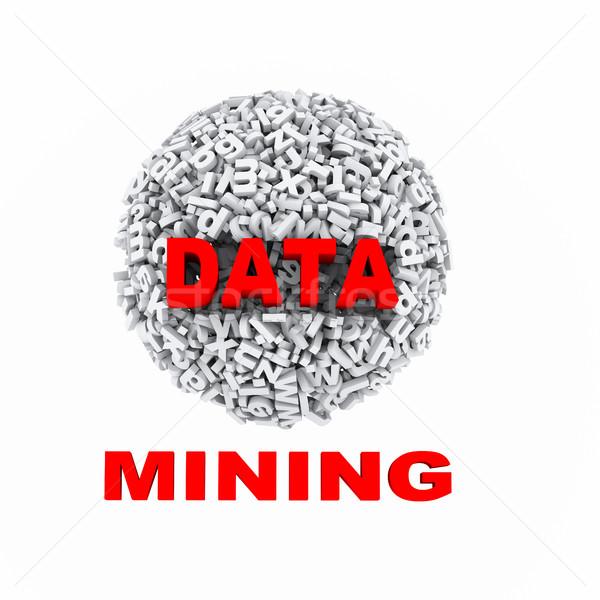 3d alphabets sphere ball data mining Stock photo © nasirkhan