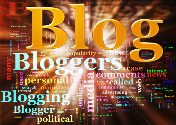 Blog wordcloud Stock photo © nasirkhan