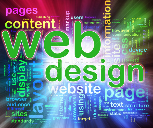 Wordcloud of Web design Stock photo © nasirkhan