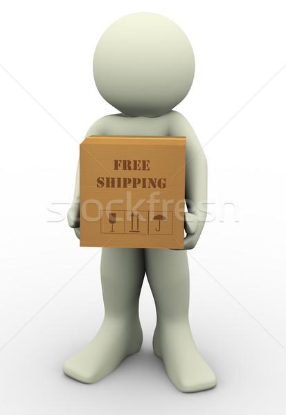3d man free shipment Stock photo © nasirkhan