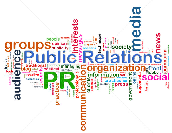 Public relations word tags Stock photo © nasirkhan