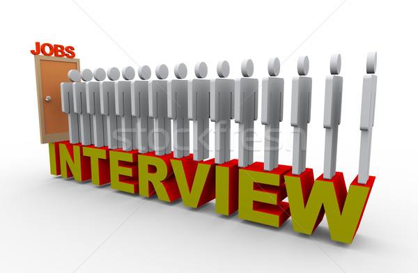 3d people job interview Stock photo © nasirkhan