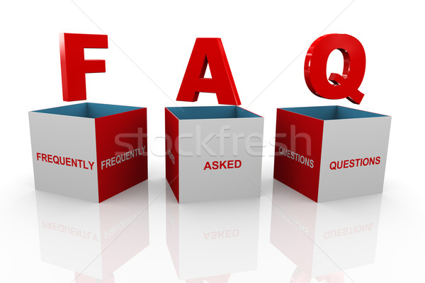 3d box of faq - frequently asked questions Stock photo © nasirkhan