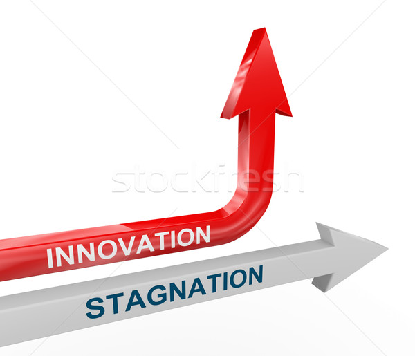 3d stagnation and innovation arrows Stock photo © nasirkhan