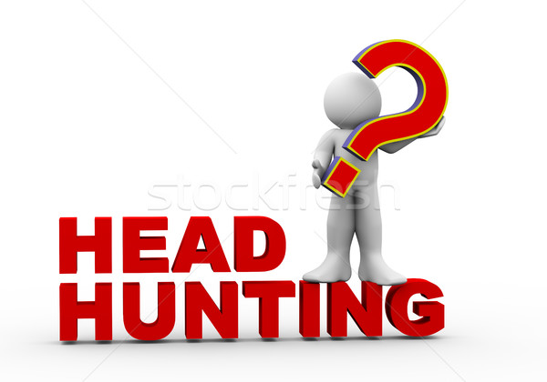 3d man on headhunting Stock photo © nasirkhan