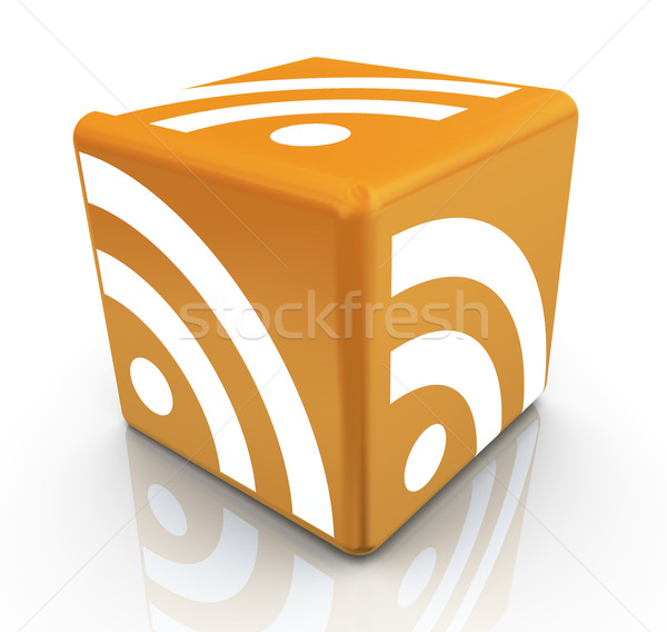 3d rss cube Stock photo © nasirkhan