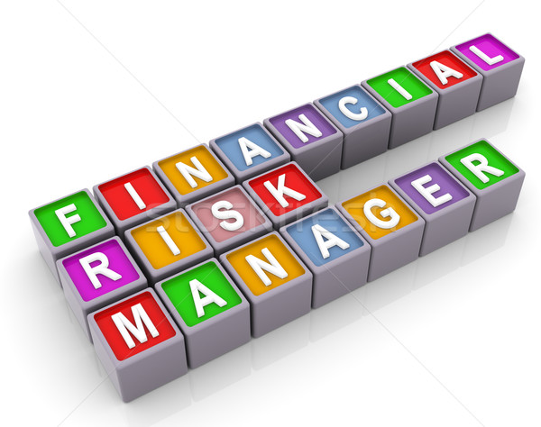 3d FRM - financial risk manager Stock photo © nasirkhan