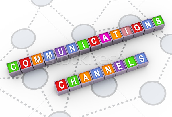 3d communications channels Stock photo © nasirkhan