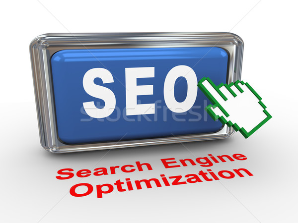 3d hand cursor and seo button Stock photo © nasirkhan
