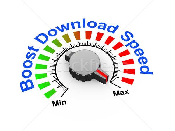 3d knob - boost download speed Stock photo © nasirkhan