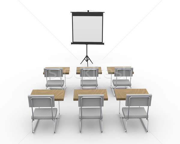 Stock photo: 3d empty conference room