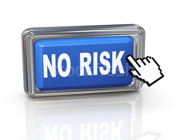 3d hand cursor button - no risk Stock photo © nasirkhan