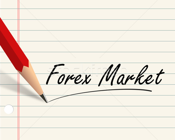 Crayon papier forex marché illustration écrit Photo stock © nasirkhan