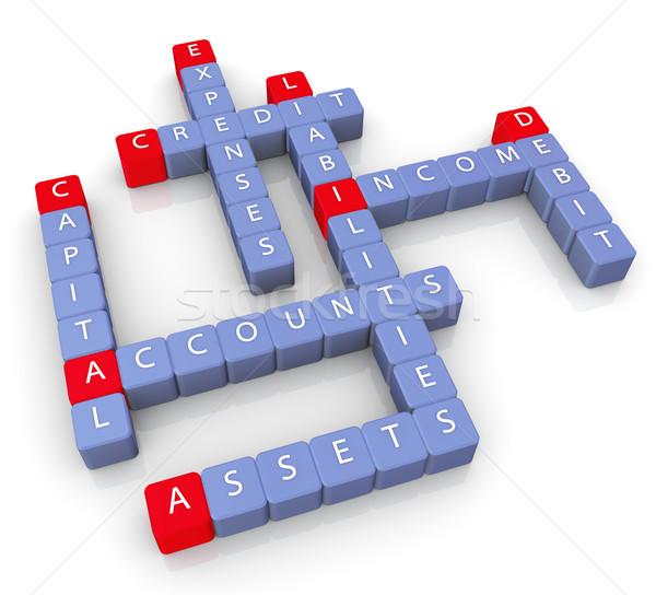 Accounts words crossword Stock photo © nasirkhan