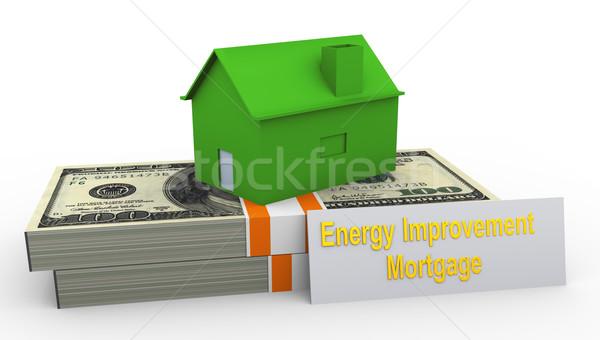 énergie amélioration hypothèque rendu 3d maison Photo stock © nasirkhan