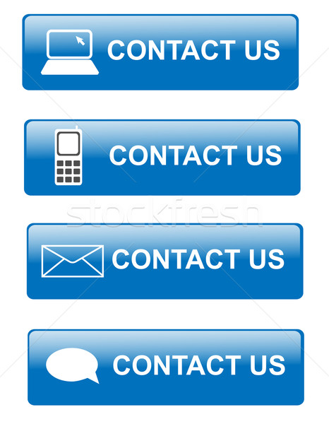 Contact us buttons Stock photo © nasirkhan