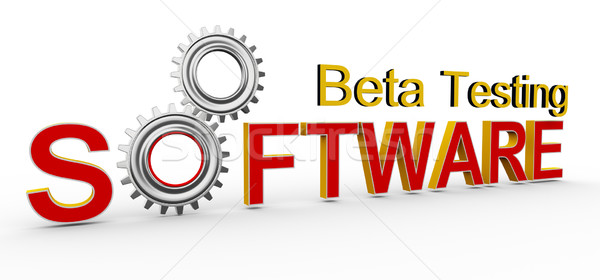 3D software beta testen 3d render woord Stockfoto © nasirkhan