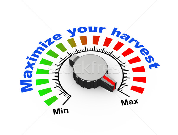 Stock photo: 3d knob - maximize your harvest